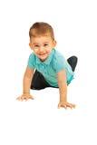 Muchacho feliz de arrastre del niño Fotografía de archivo libre de regalías