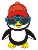 Muchacho fresco del pingüino Fotografía de archivo