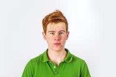 Muchacho fresco en camisa verde Imagen de archivo