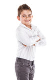 Muchacho fresco joven derecho Foto de archivo