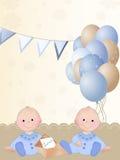 Muchacho gemelo recién nacido Imagen de archivo