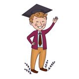 Muchacho graduado Imagen de archivo