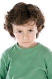 Muchacho hermoso enojado Foto de archivo libre de regalías
