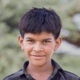 Muchacho indio asistido en Pushkar Imagen de archivo