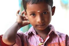 Muchacho indio de la aldea Fotos de archivo