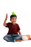 Muchacho indio juguetón Fotografía de archivo