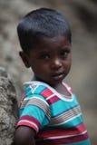 Muchacho indio pobre Fotografía de archivo