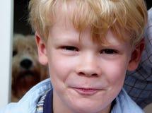 muchacho jocoso Foto de archivo