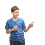 Muchacho joven aislado Imagen de archivo