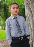 Muchacho joven atractivo serio Imagenes de archivo