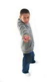 Muchacho joven con el chicle de globo Imágenes de archivo libres de regalías