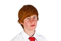 Muchacho joven con el lazo Foto de archivo libre de regalías