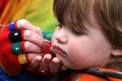 Muchacho joven con la pintura de la cara Fotografía de archivo libre de regalías
