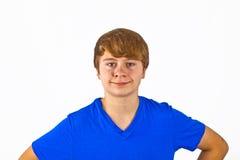 Muchacho joven de mirada amistoso Foto de archivo libre de regalías