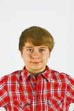 Muchacho joven de mirada amistoso Fotos de archivo