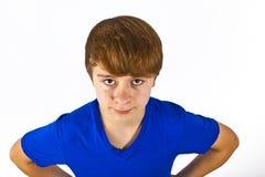 Muchacho joven de mirada amistoso Imagenes de archivo