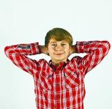 Muchacho joven de mirada amistoso Fotos de archivo libres de regalías
