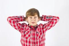 Muchacho joven de mirada cómodo Imagen de archivo