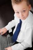 Muchacho joven del hombre de negocios Foto de archivo