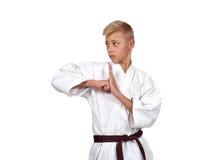 Muchacho joven del karate Imagen de archivo