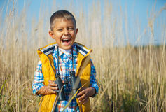 Muchacho joven del safari Imagenes de archivo