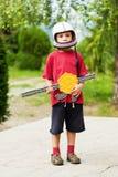 Muchacho joven del soldado Foto de archivo libre de regalías