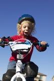 Muchacho joven en la bici Fotografía de archivo libre de regalías