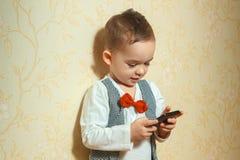 Muchacho joven en traje de la elegancia Imágenes de archivo libres de regalías