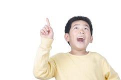 Muchacho joven feliz con buena idea Imagen de archivo libre de regalías