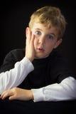 Muchacho joven inseguro Imágenes de archivo libres de regalías