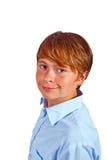 Muchacho joven lindo en estudio Fotos de archivo