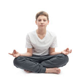 Muchacho joven meditating Imagenes de archivo