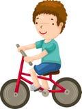 Muchacho joven que monta una bicicleta ilustración del vector