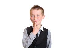 Muchacho joven que reflexiona Fotos de archivo