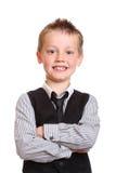 Muchacho joven que sonríe en la cámara Fotos de archivo libres de regalías