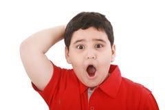 Muchacho joven sorprendente Foto de archivo libre de regalías