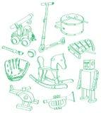 Muchacho-juguete-juego Imagenes de archivo