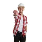 Muchacho lindo del adolescente sobre el fondo blanco Fotografía de archivo libre de regalías