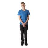 Muchacho lindo del adolescente sobre fondo aislado blanco Fotografía de archivo libre de regalías