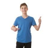Muchacho lindo del adolescente sobre fondo aislado blanco Fotografía de archivo