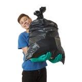 Muchacho lindo del adolescente sobre fondo aislado blanco Fotos de archivo libres de regalías