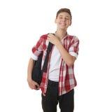 Muchacho lindo del adolescente sobre fondo aislado blanco Foto de archivo libre de regalías
