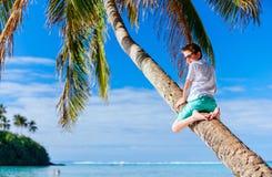 Muchacho lindo el vacaciones de la playa Fotografía de archivo libre de regalías