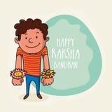 Muchacho lindo para la celebración de Raksha Bandhan Imagen de archivo libre de regalías