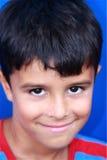 Muchacho lindo, tímido del Latino Foto de archivo libre de regalías