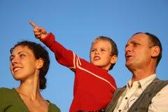 Muchacho, madre y abuelo Fotografía de archivo libre de regalías