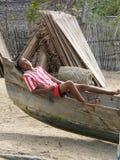 Muchacho malgache nativo imagenes de archivo