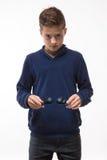Muchacho moreno del inconformista del adolescente del actor en gafas de sol Imagen de archivo libre de regalías