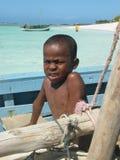 Muchacho nativo malgache fotografía de archivo