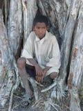 Muchacho nativo malgache foto de archivo